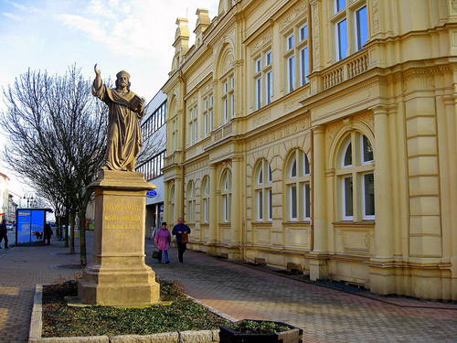 statue of Jan Hus - Jičín