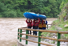 Rafting on Dunajec