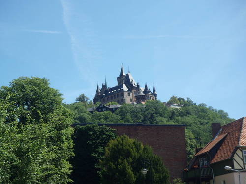Germany Wernigerode The City At The Foor Of The Highest Peak Of The Harz Mountains En