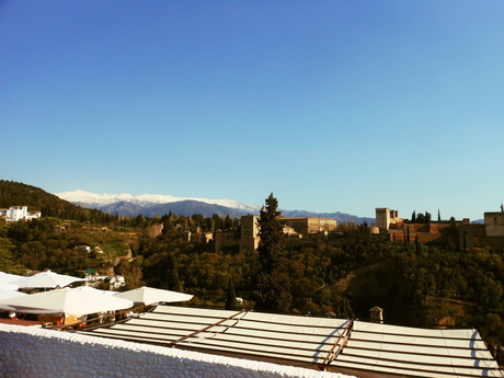 Alhambra and the Sierra Nevada mountain range