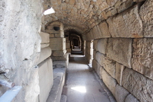 narrow corridor for gladiators and actors